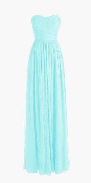 Chiffon Sweetheart Bridesmaid Dress