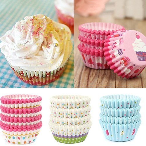 100pcsset Soft Round Cake Cupcake Liner Muffin Paper Tray Case