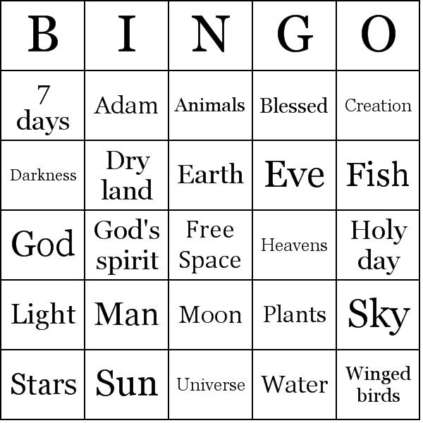 Location bingo card | Biblestuff | Pinterest | Free bible, Bible and ...
