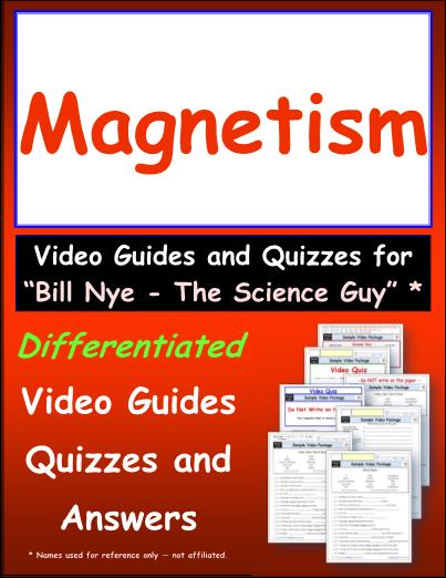 Worksheet for Bill Nye - Magnetism * Video Differentiated Worksheet ...