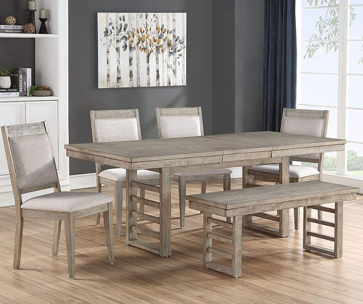 Ellington Trestle Gray 6 Piece Dining Set Big Lots Dining Room Sets Farmhouse Dining Chairs Dining Room Furniture Sets