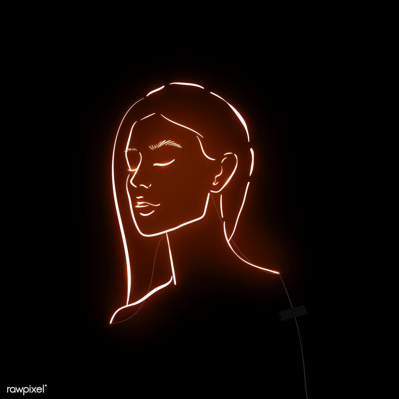 Download premium illustration of Feminine neon sign design