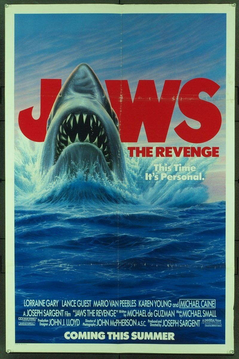 Jaws The Revenge 1987 Original Movie Poster Original Movie Posters Revenge Movie Posters