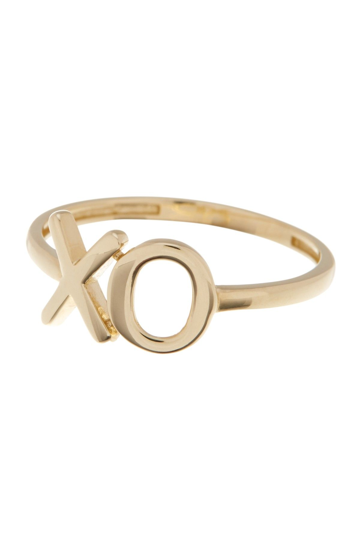 K yellow gold x u o ring on hautelook my shopping list my