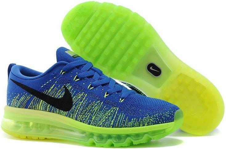 Nike Flyknit Air Max Royal Blue Neon