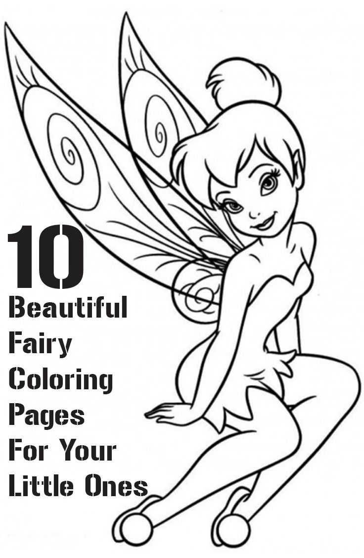 Top 25 Free Printable Beautiful Fairy Coloring Pages Online ...