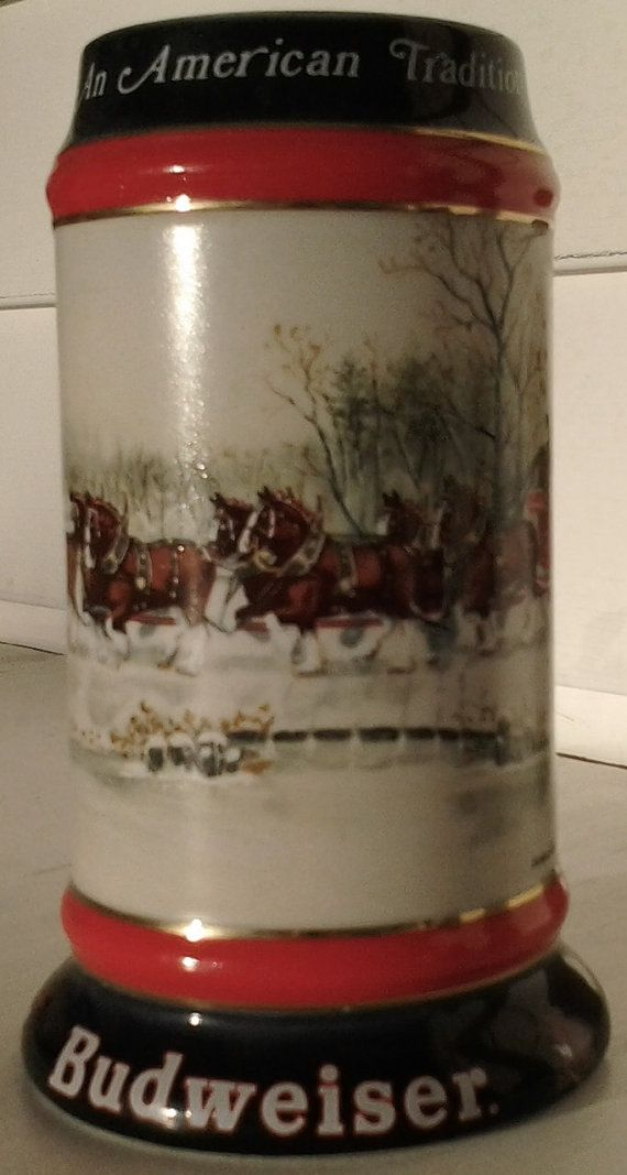 Budweiser Clydesdale Beer Stein An American by UrHere4Fun on Etsy, $25.00