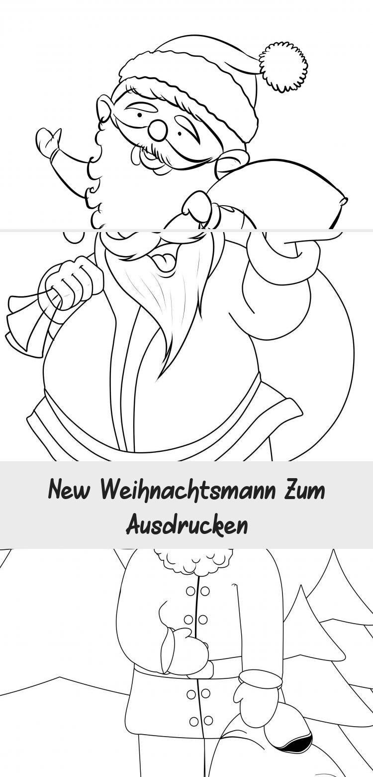 new weihnachtsmann zum ausdrucken in 2020  ausdrucken