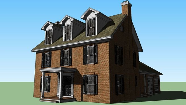 3d Warehouse View Model House Colonial House Narrow House