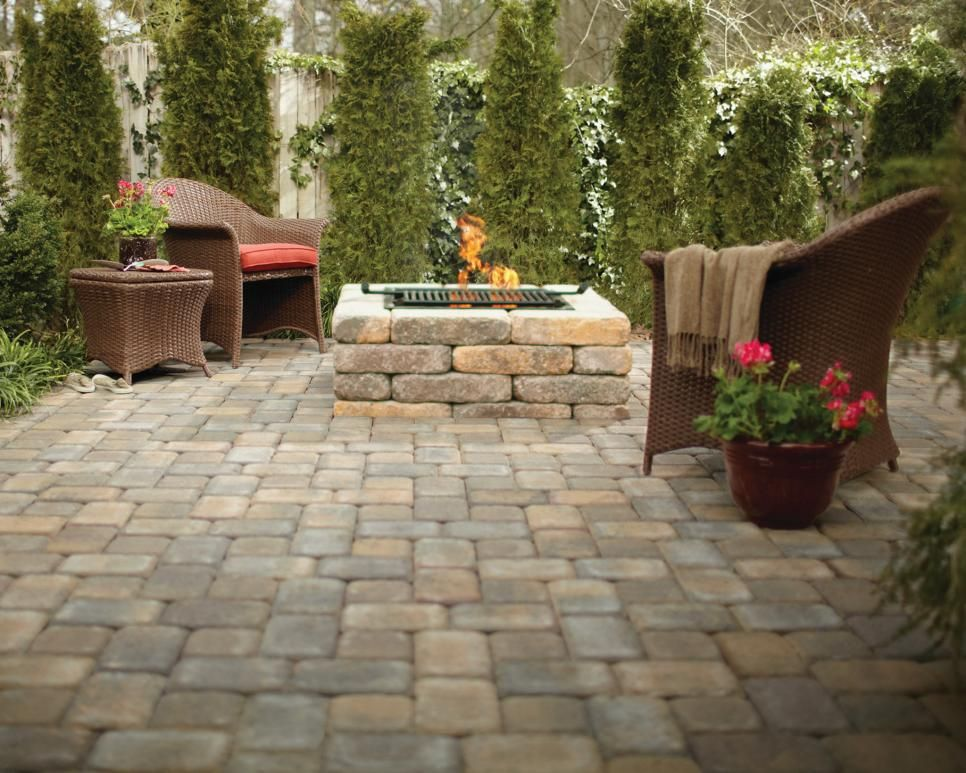 This Square Fire Pit Uses RumbleStone Pavers In A Color Called Sierra  Blend. The Kit