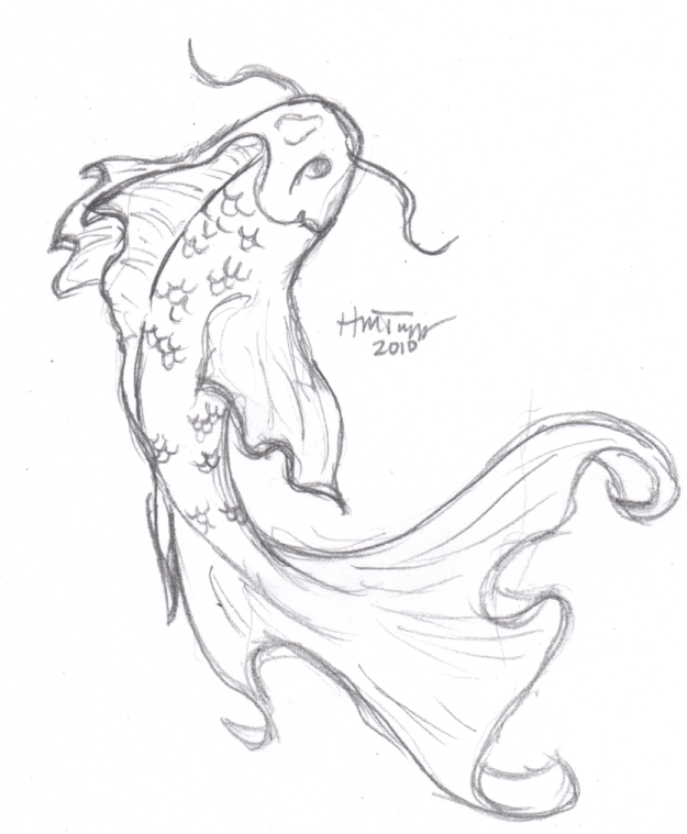 Just Another Sketch Of Koi This One Is Not Going To Be Used For A Personal Tattoo In 2020 Koi Art Koi Fish Drawing Fish Drawings