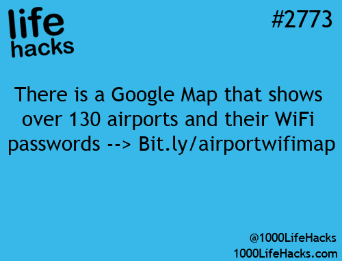 Airport WiFi passwords –> http://bit.ly/airportwifimap