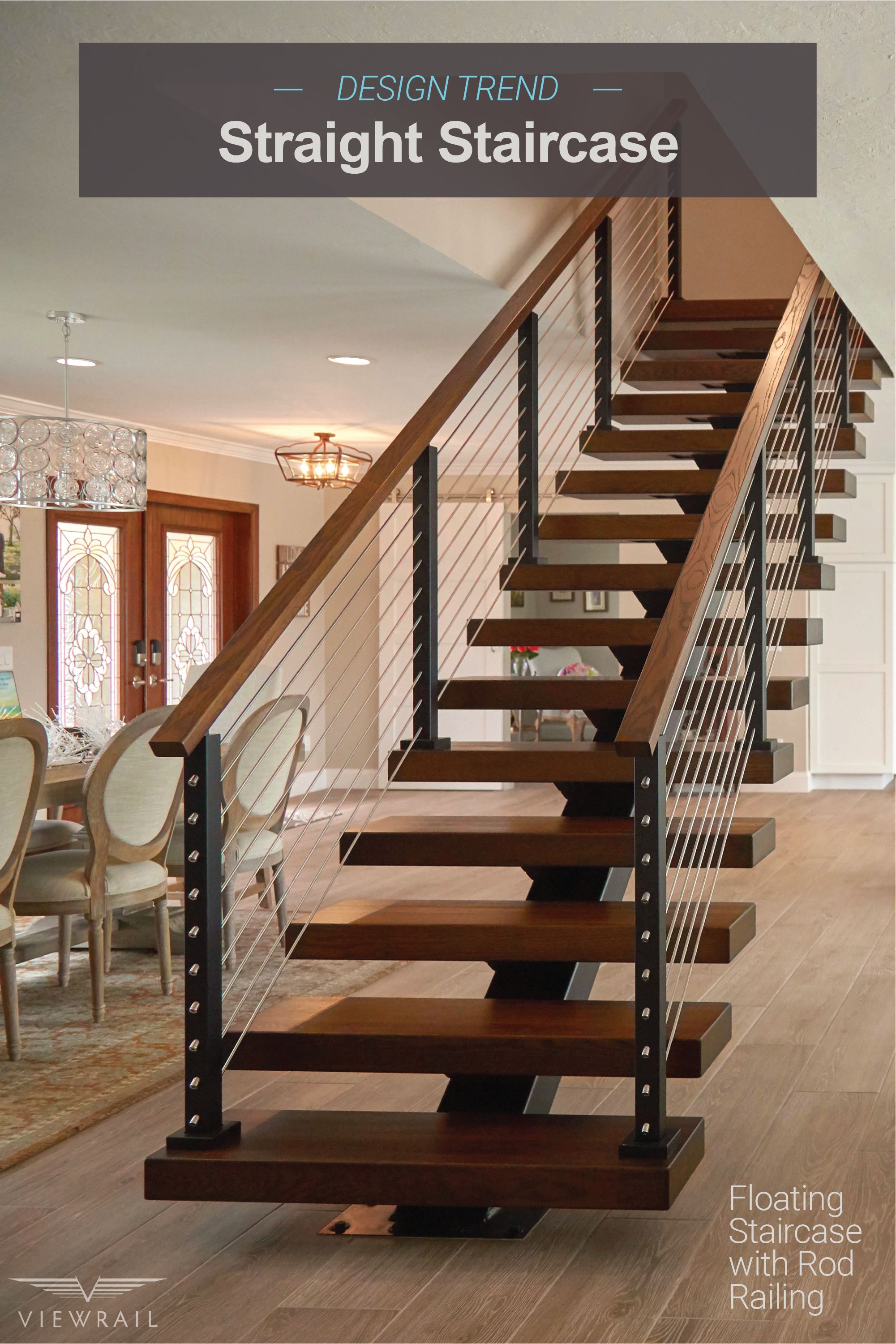 Best Straight Staircases Home Stairs Design Floating 400 x 300