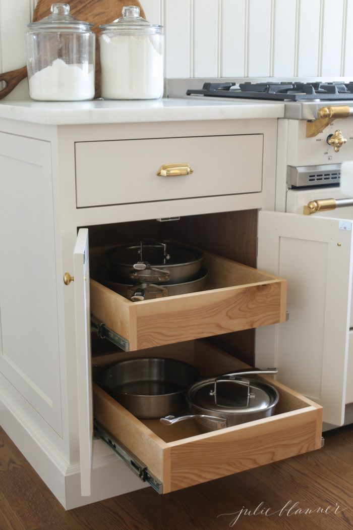 pullout cabinets to store pots and pans kitchen pullout kitchen hacks organization kitchen plans on kitchen organization pots and pans id=74520