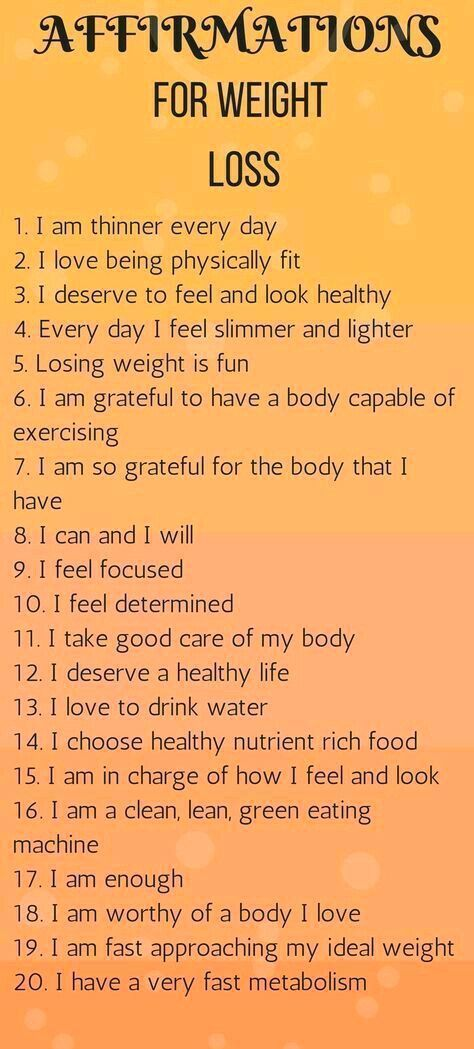 Top 20 affirmations for weight loss.If you are trying to lose weight, check out ...   - Fitness Moti...
