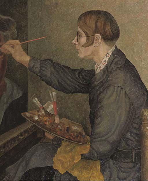 Portret of Charley Toorop, Jacob Nieweg. Dutch (1877 - 1955)