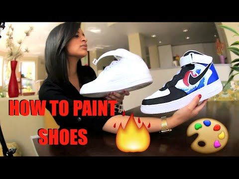 How To Paint Your Shoes Tutorial