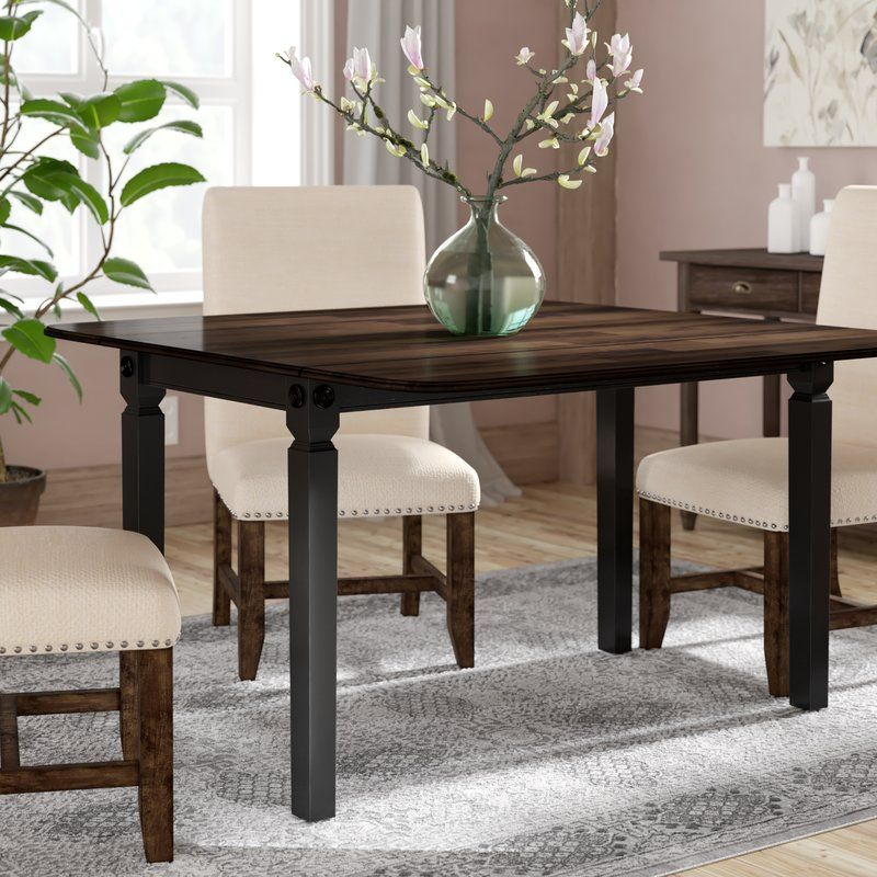 Marchan Drop Leaf Solid Wood Dining Table Solid Wood Dining