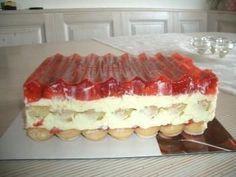 Erdbeerschnitten ohne backen - Rezept mit Bild