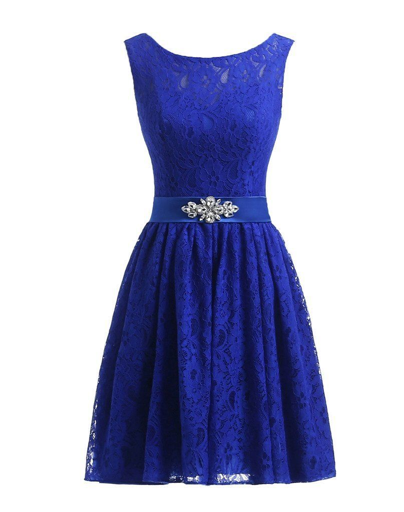 Prommay womens short prom dresses a line chiffon royal blue