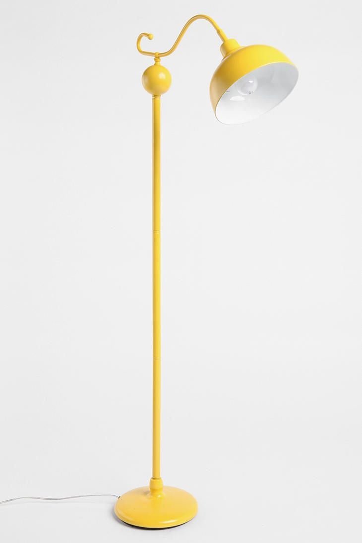 Urban Outfitters vintage style floor lamp. Yellow, also in aqua!