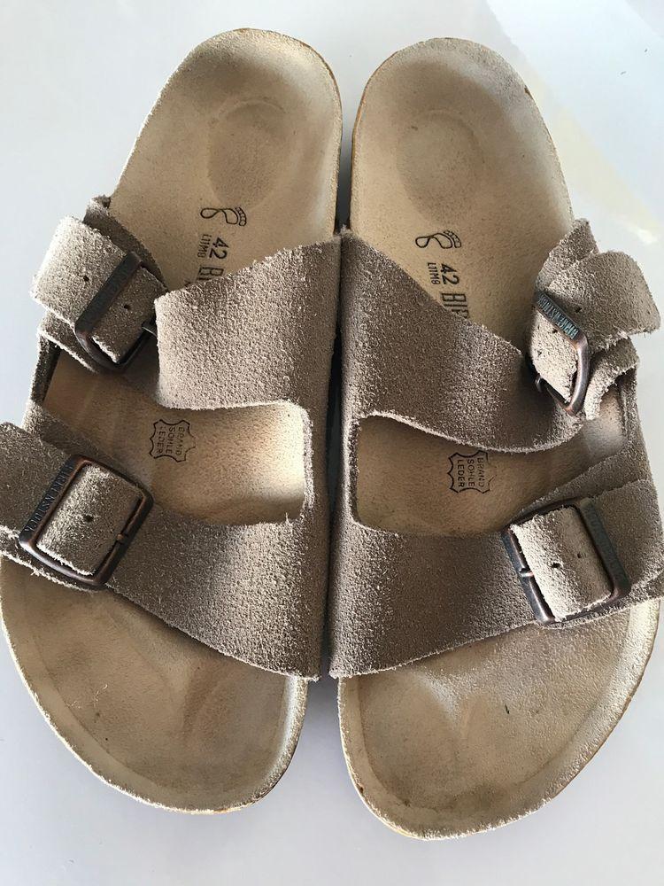 BIRKENSTOCK Made In Germany Leather Sandals 42 Men's 9 Ladies 11 #Birkenstock #Sandals