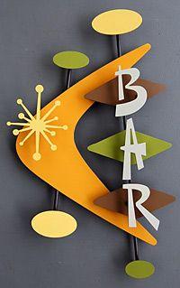Atomic Bar Sign Google Search Mid Century Modern Art