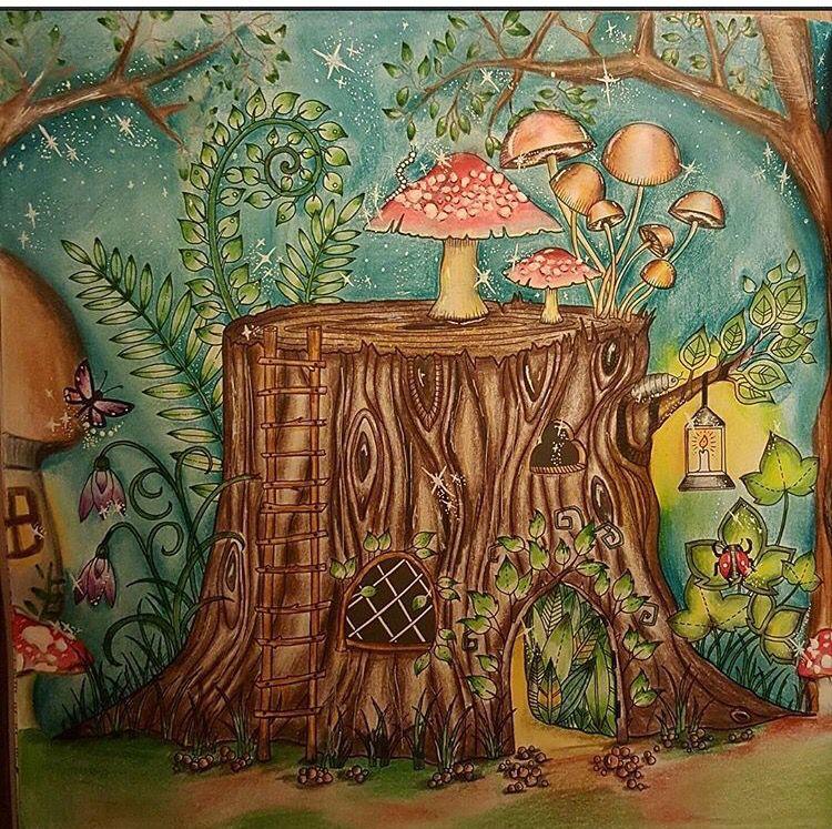 Tree Trunk Enchanted Forest Tronco Floresta Encantada Johanna Bas Enchanted Forest Coloring Enchanted Forest Coloring Book Johanna Basford Enchanted Forest