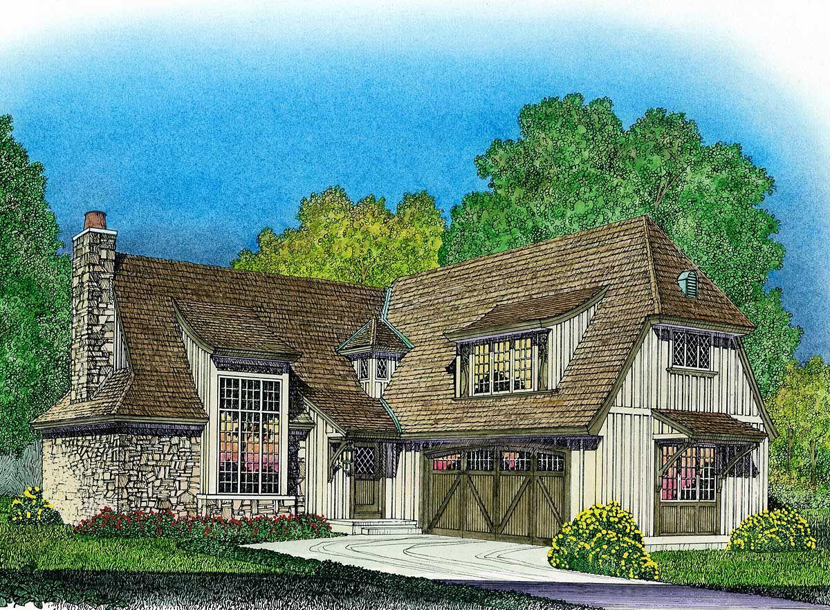 Photo of Plan 43045PF: Tasteful English-Style Cottage