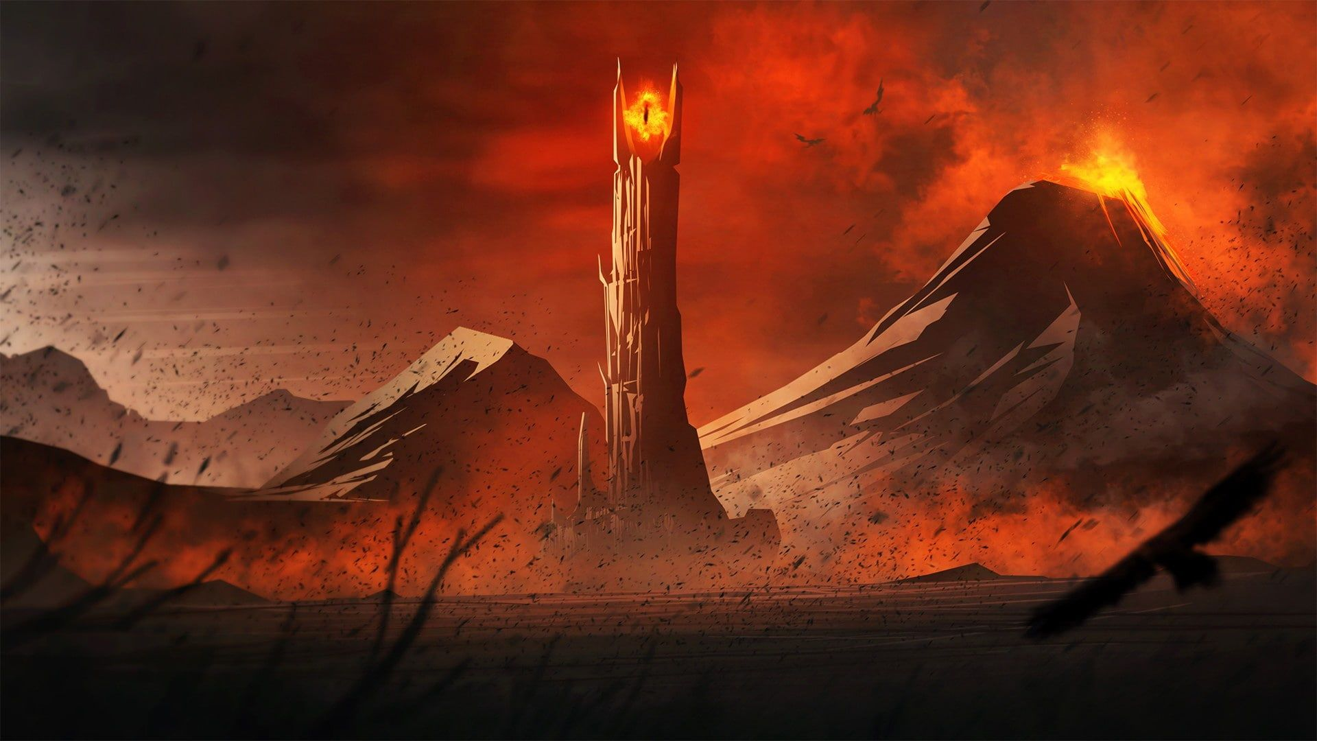 Lord Of The Rings Mordor Mount Doom Eye Of Sauron 1080p