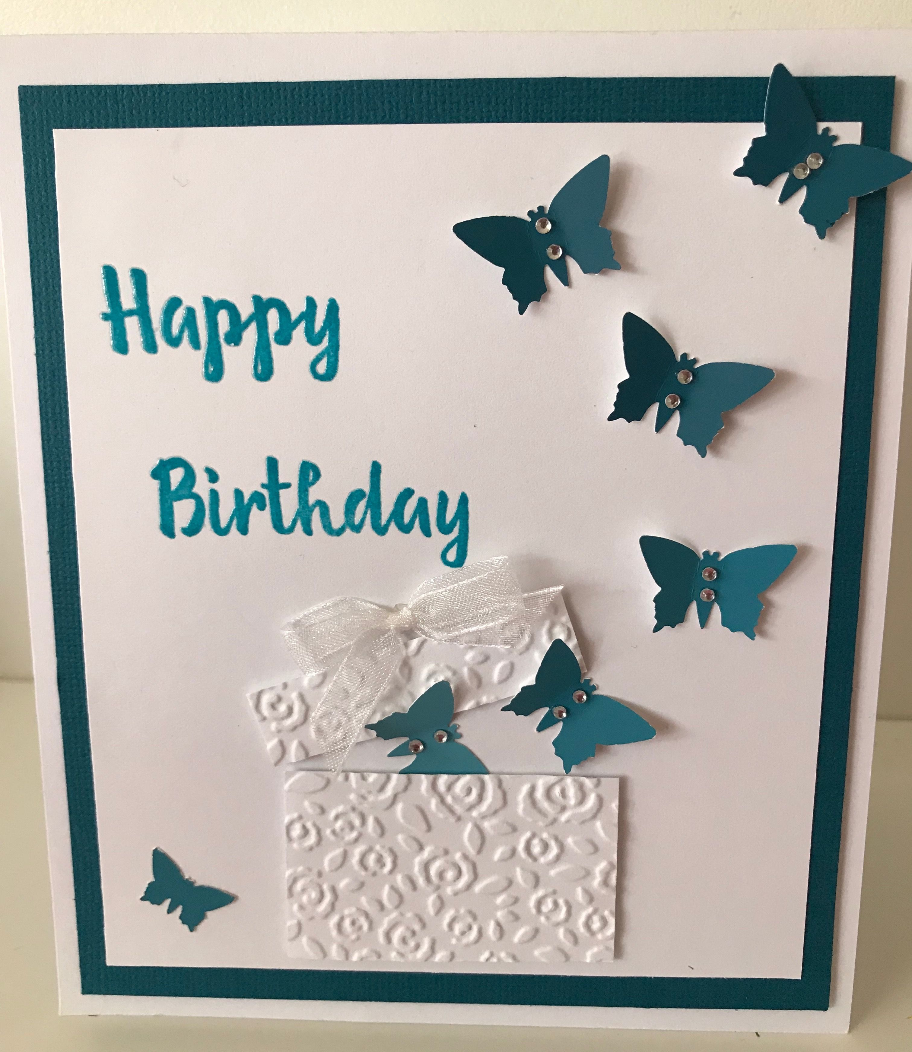 Butterflies coming out of the box handmade birthday