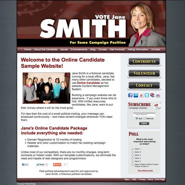 Political Fundraiser Invitations  Online Candidate Regular
