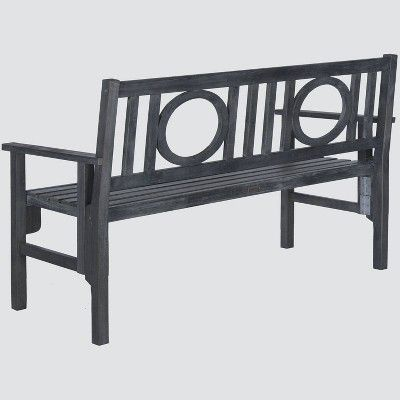 Remarkable Patio Folding Bench Gray Safavieh In 2019 Products Gmtry Best Dining Table And Chair Ideas Images Gmtryco