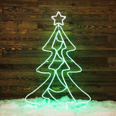 Shop GE 5-ft Freestanding Tree with Constant Green LED ...
