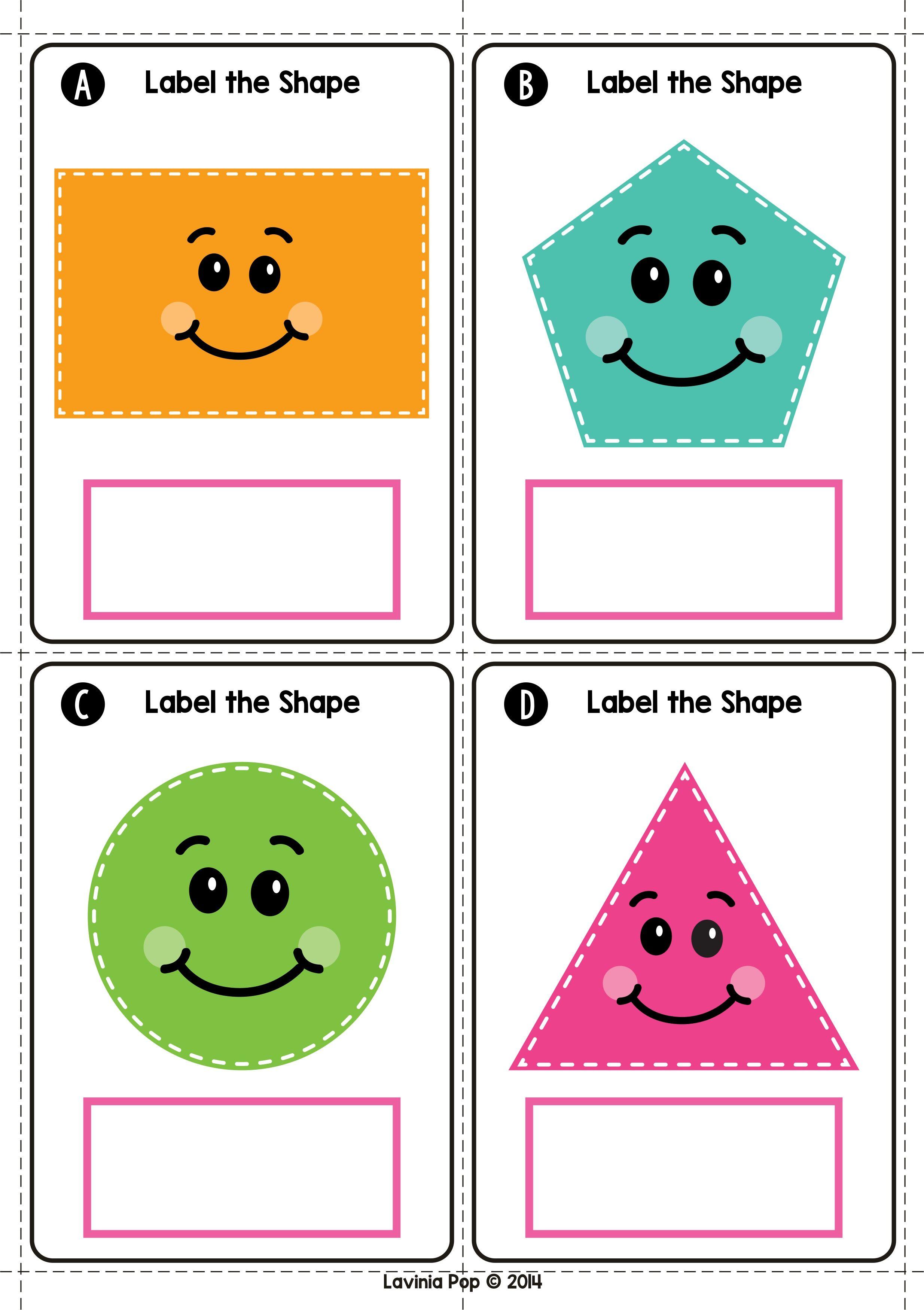 Spring Math Centers For Kindergarten Label The 2d Shapes