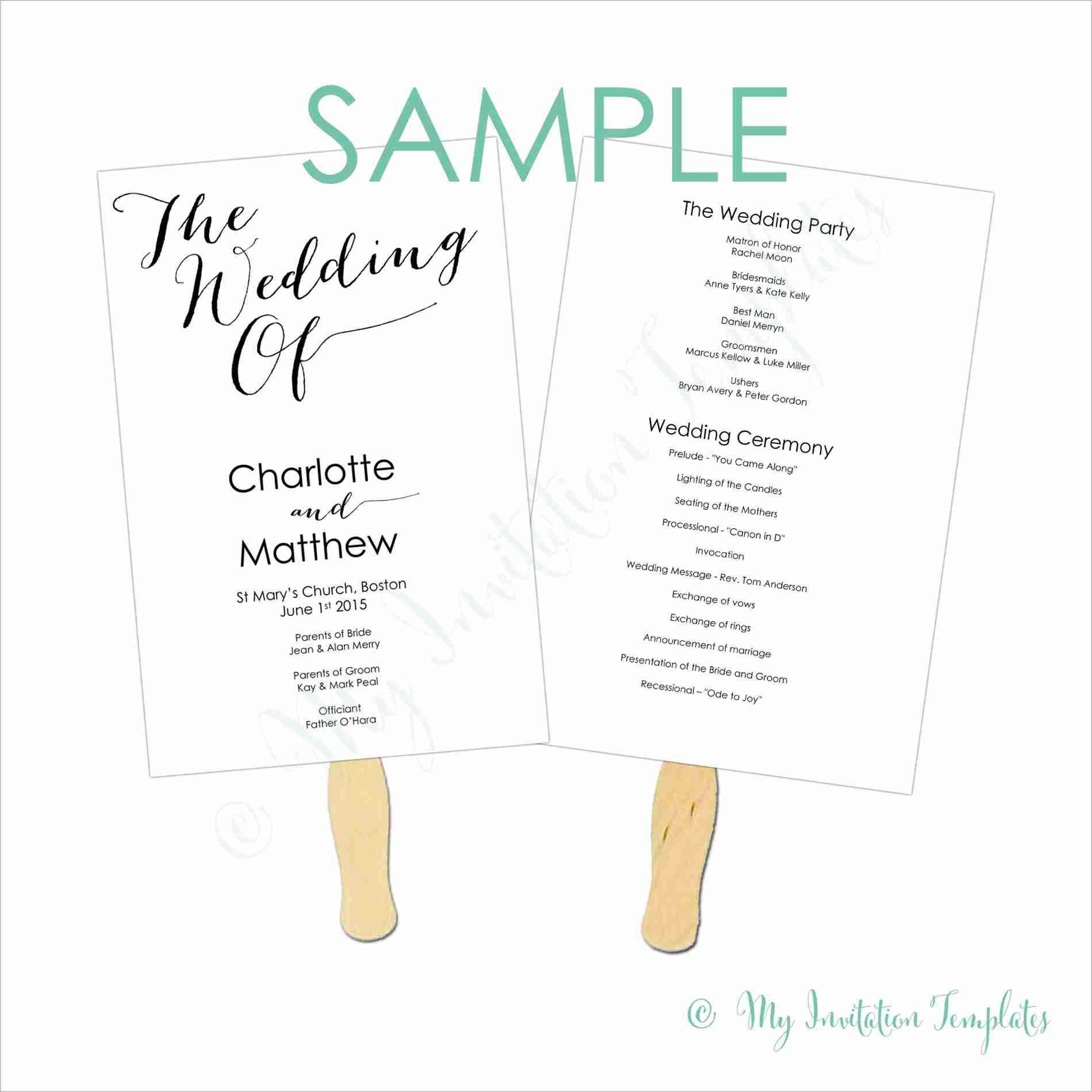Simple Wedding Programs Examples Weddings Free Wedding