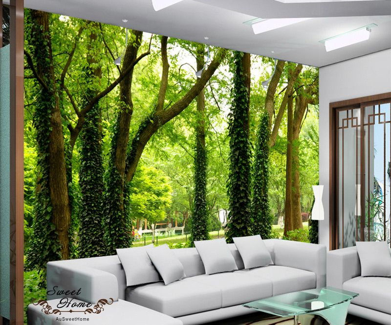 Photo Wallpaper Bridge in a Rain Forest GIANT WALL DECOR PAPER POSTER FREE PASTE