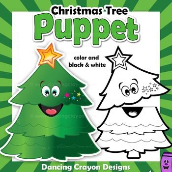 Christmas Tree Craft Activity Printable Paper Bag Puppet Christmas Activities For Kids Christmas Classroom Fun Christmas Crafts