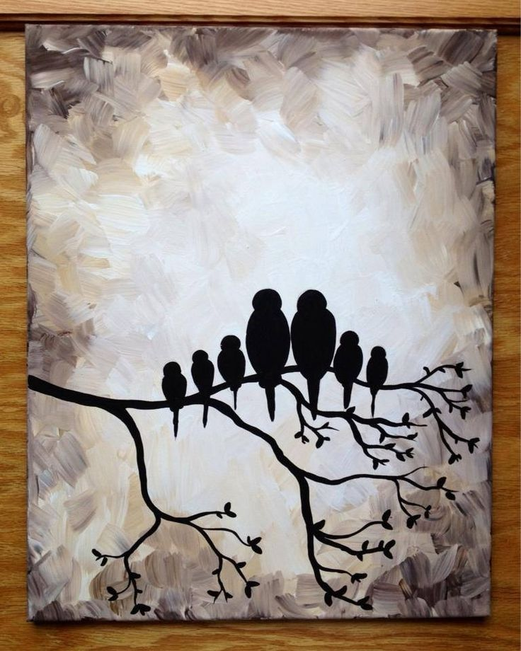 Beautiful Love Birds Painting Etsy Silhouettes Bird And