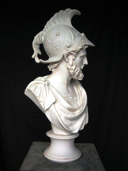 Ajax A Marble Bust After Gian Lorenzo Bernini Italian 1660 Marble Bust Sculpture Hand Sculpture