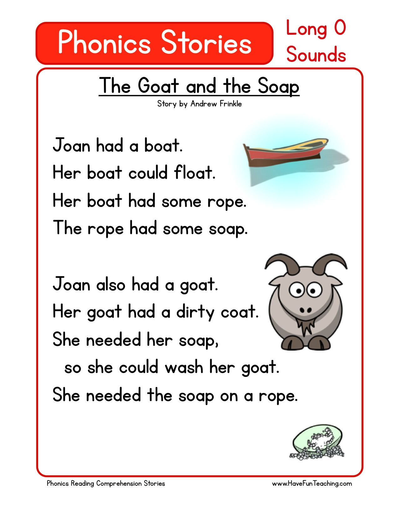 Uncategorized Reading Comprehension Worksheets For Kindergarten this reading comprehension worksheet the goat and soap is for teaching comprehension