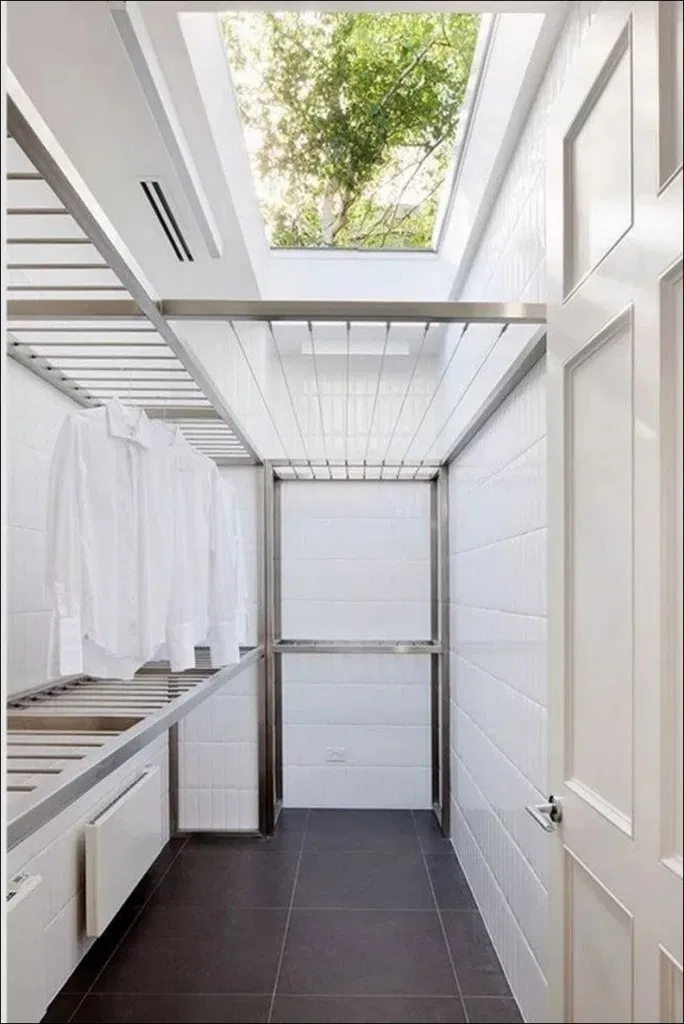 40 Stylish Laundry Hanging Rails That I Wish Were Mine You Can Apply Outdoor Laundry Rooms Modern Laundry Rooms Laundry Room Design