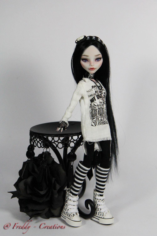OOAK Monster High Repaint Reroot Raven Full Dress Set by Freddy Tan | eBay #ooakmonsterhigh