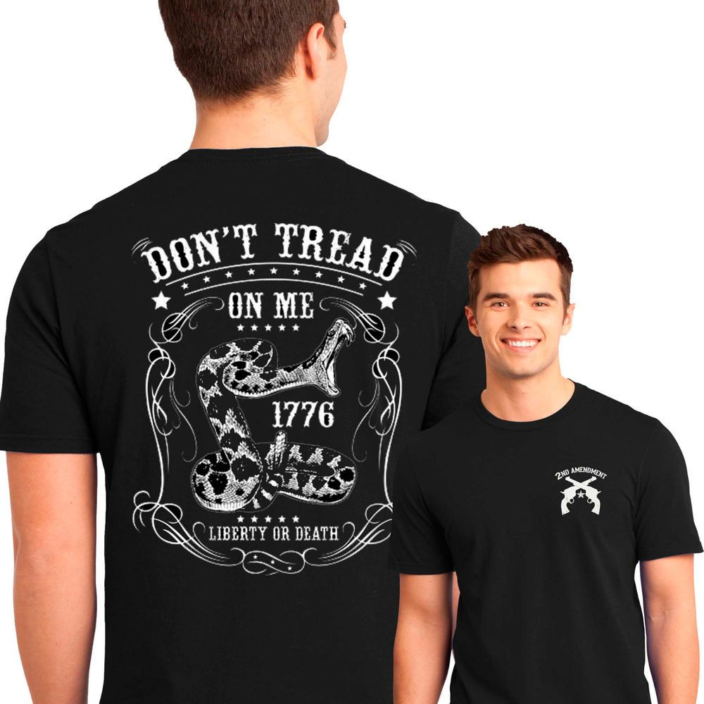 Don/'t Tread On Me T-Shirt Defend Liberty 1776 Patriotic Tee Shirt Gadsden Flag