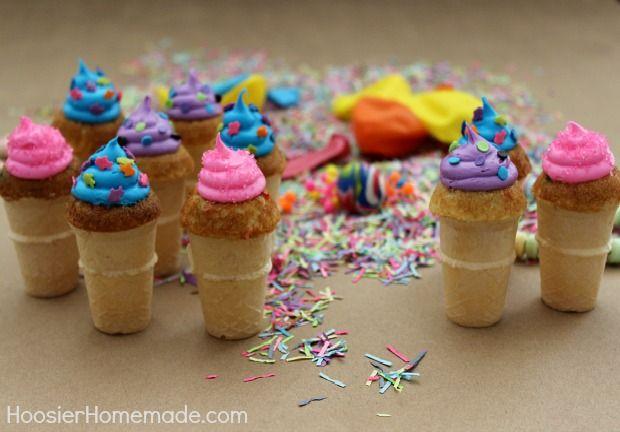 Mini Funfetti Birthday Cupcake Cones Giveaway Cupcake cones