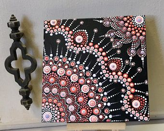Mini Dot Art Painting 5 X 5 Canvas With Mini Easel