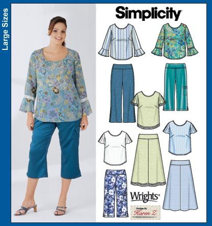 plus size clothing patterns sewing | SIMPLICITY PIONEER PATTERN ...
