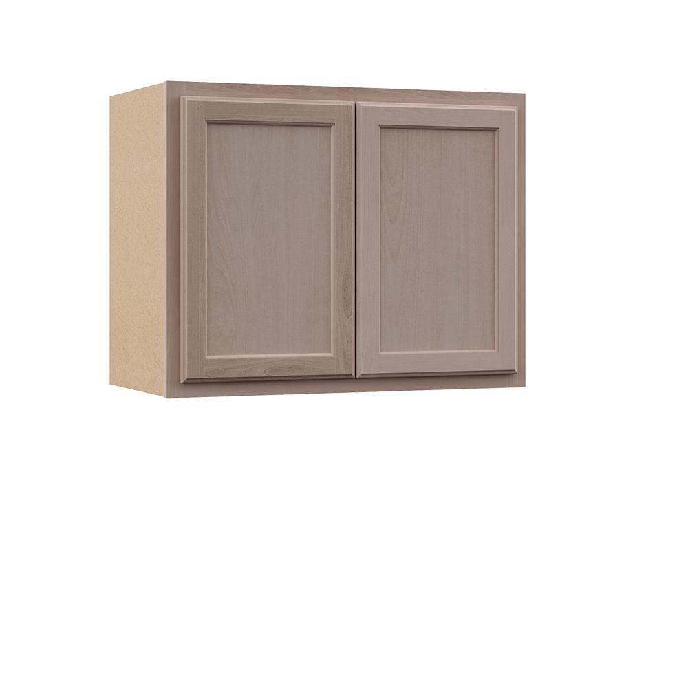 Hampton Bay Hampton Assembled 30x23 5x12 In Wall Bridge Cabinet In Unfinished Beech Kw3024 Uf The Home Depot In 2020 Kitchen Wall Cabinets Wood Door Frame Solid Wood Doors