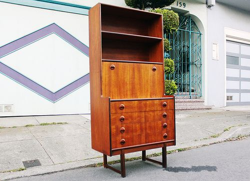 Danish Modern Mid Century Highboy Dresser In Teak Swivel Coffee Table Walnut From Bett S Collection