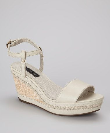 5bb4d4e4aafe Take a look at this Off-White Sandrine Platform Sandal by Calvin Klein  Jeans on  zulily today!
